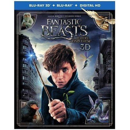 Fantastic Beasts And Where To Find Them   3D Blu Ray   Blu Ray   Dvd