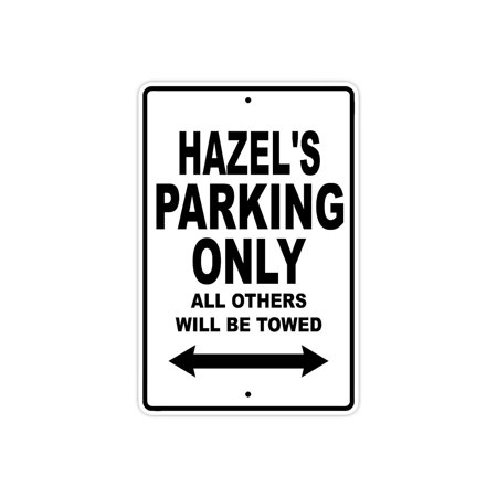 Boston Red Sox Parking Sign (Hazel's Parking Only All Others Will Be Towed Name Gift Novelty Metal Aluminum 8
