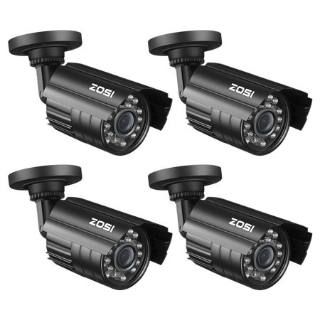 ZOSI 4 PACK Bullet Fake Dummy Surveillance Security Camera with IR Led