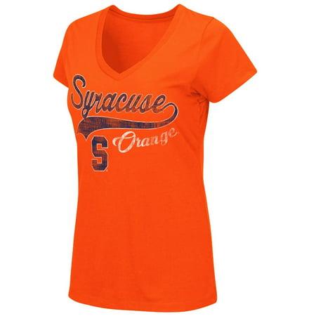 Syracuse Orange Womens Ncaa  How You Doin  Dual Blend V Neck T Shirt
