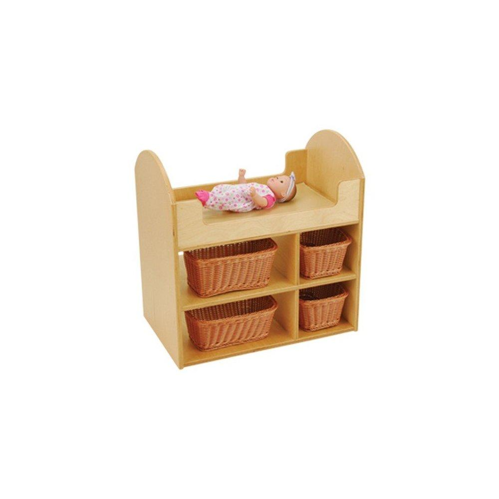 doll changing table - includes 4 wicker baskets