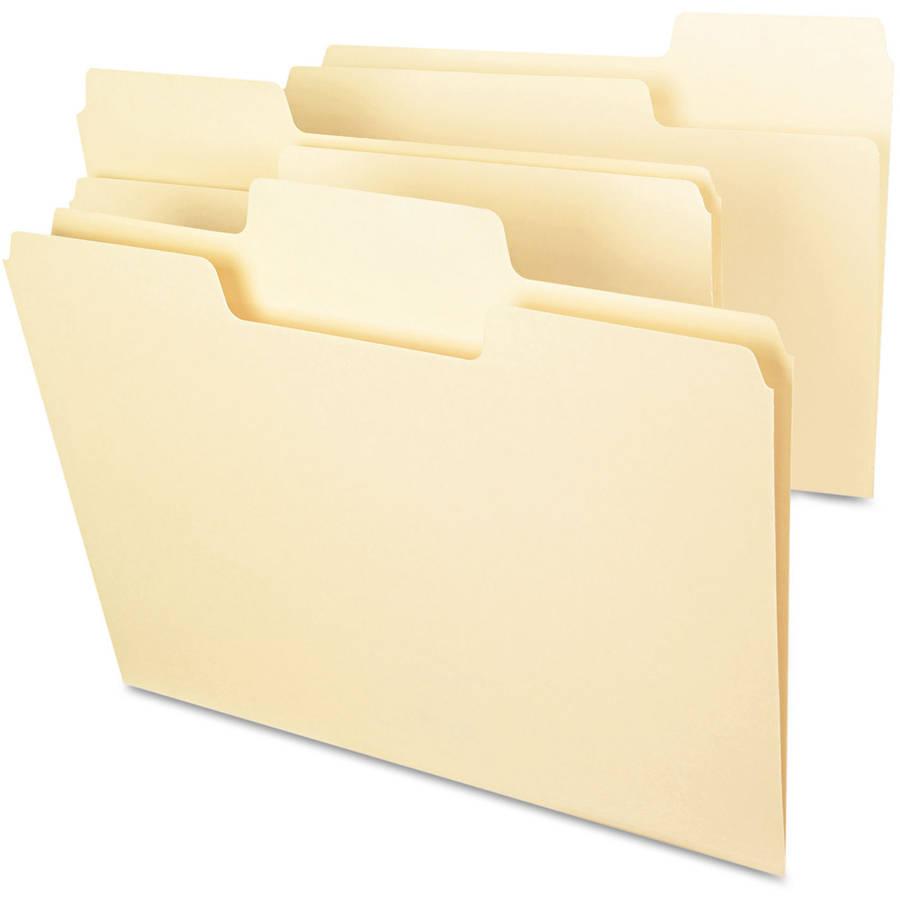 Smead SuperTab File Folders, 1/3 Cut Top Tab, Manila, 100/Box