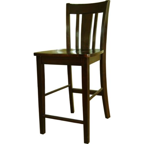 "San Remo Counterheight Stool - 24""-Color:Java"
