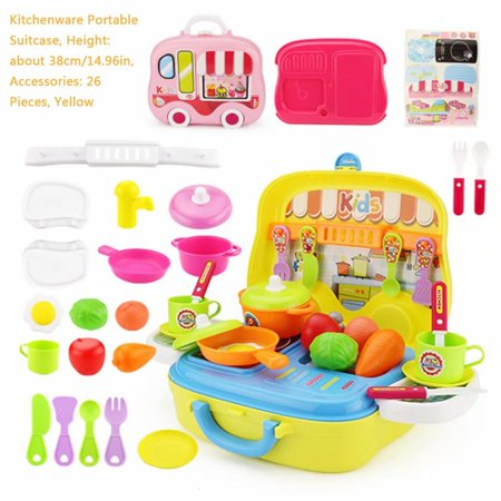 Clearance! Children's Simulation Play House Kitchen Portable Suitcase Cooking Toy Cooking Pretend Baby Girl Boy Toy - Toddler Girls Toms