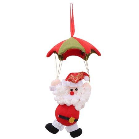 Santa Claus Snowman In Parachute Christmas Tree Hanging Ornament Xmas Decoration ()