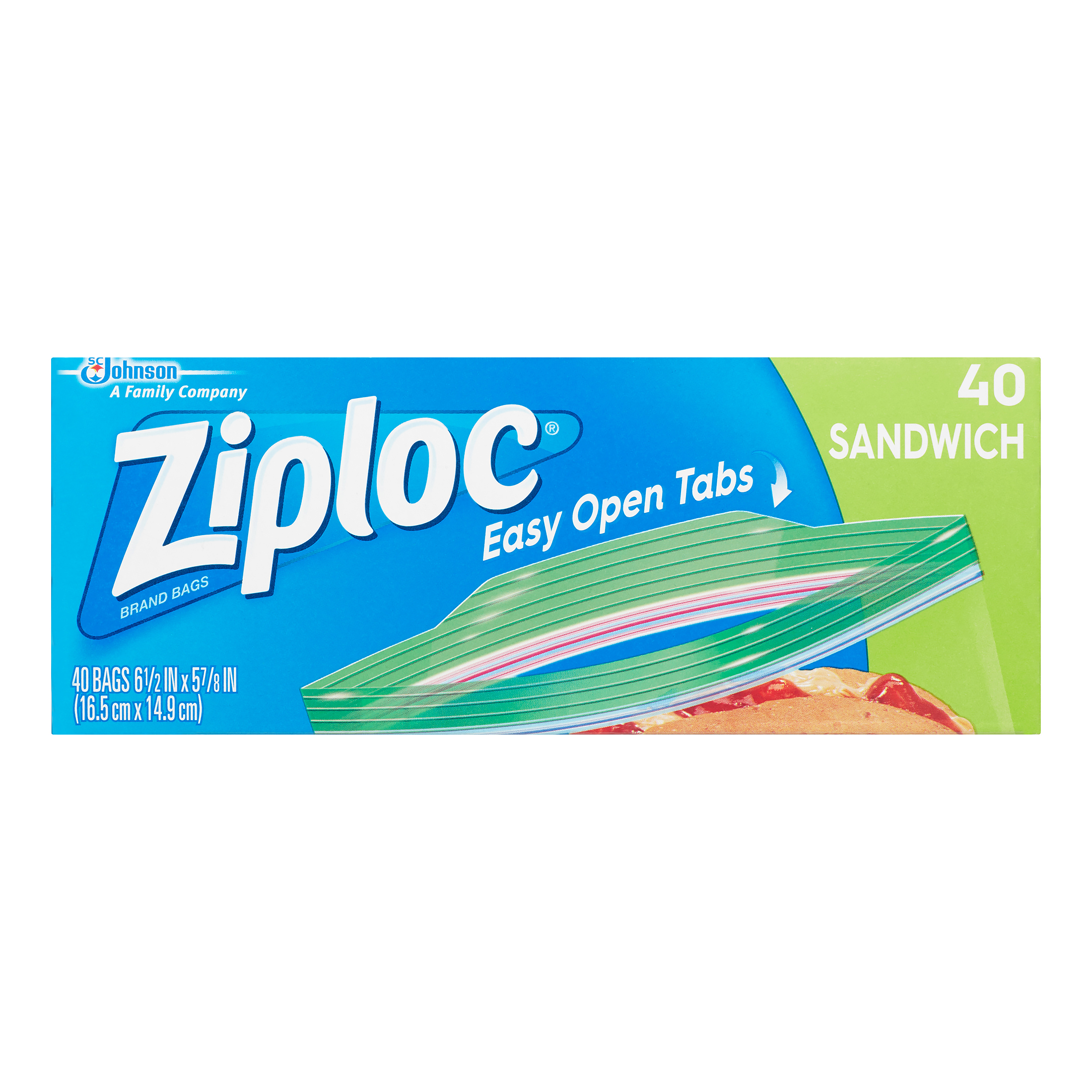 Ziploc Pinch and Seal Sandwich Bags, 40 count