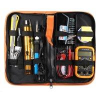 Iuhan 60W Electric Adjustable Temperature Welding Solder Soldering Iron multimeter Kit