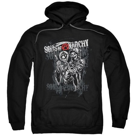 Sons Of Anarchy Men's  Reaper Logo Hooded Sweatshirt Black