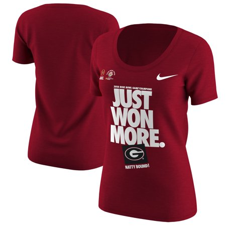 - Georgia Bulldogs Nike Women's College Football Playoff 2018 Rose Bowl Champions Locker Room T-Shirt - Red