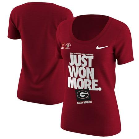 Nice Rose - Georgia Bulldogs Nike Women's College Football Playoff 2018 Rose Bowl Champions Locker Room T-Shirt - Red