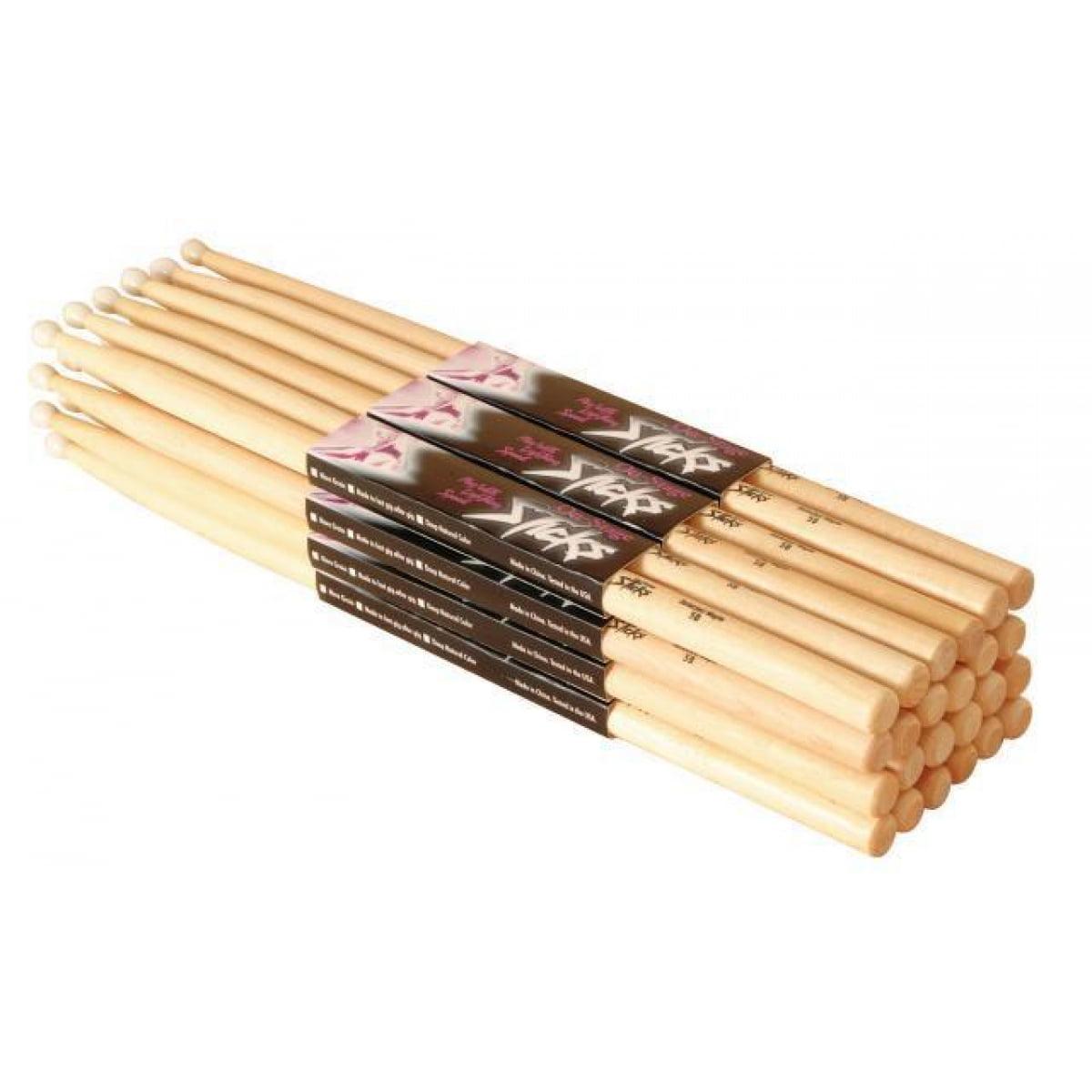 On-Stage MW5B Maple Drum Sticks 5B Wood Tip 12 Pair