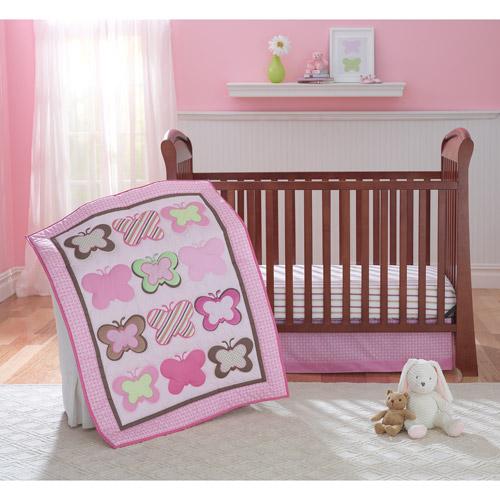 Itty Bitty Butterfliez 3pc Crib Bedding Set