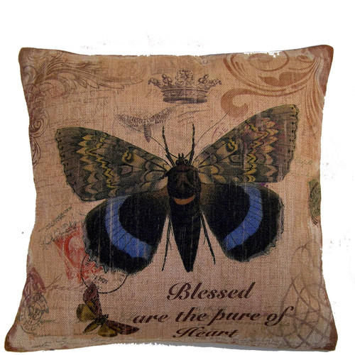 Elegant Decor Butterfly Throw Pillow by KO & Company