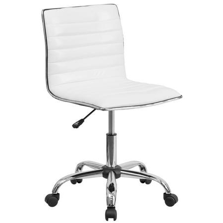 Low Back Armless Designer Swivel Task Chair White - Flash Furniture