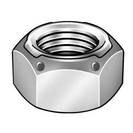 "GRAINGER APPROVED 3/8""-16 Grade C Yellow Zinc Finish Steel Deformed Thread Lock Nut, 100 pk., SLI80371-100P"