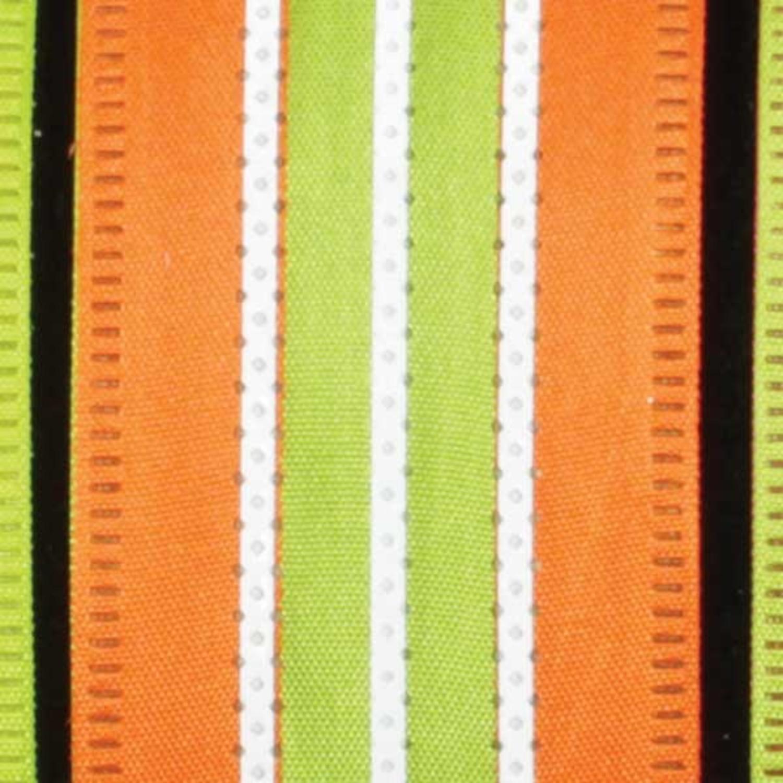 "Ribbon Highway Orange and Green Wired Craft Ribbon 1.5"" x 40 Yards"