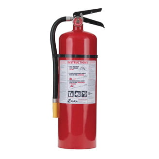 Cabinet White Tub//Red Cover 5 Pack 5 lb ABC Pro Line Fire Extinguisher w//Mark I Jr