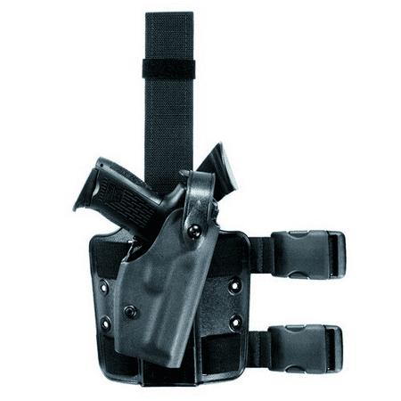 SAFARILAND 6004 SLS Tactical Holster Color: STX Tactical Gun Fit: Taser International X26 ( bbl) Hand: Left Leg Strap: D