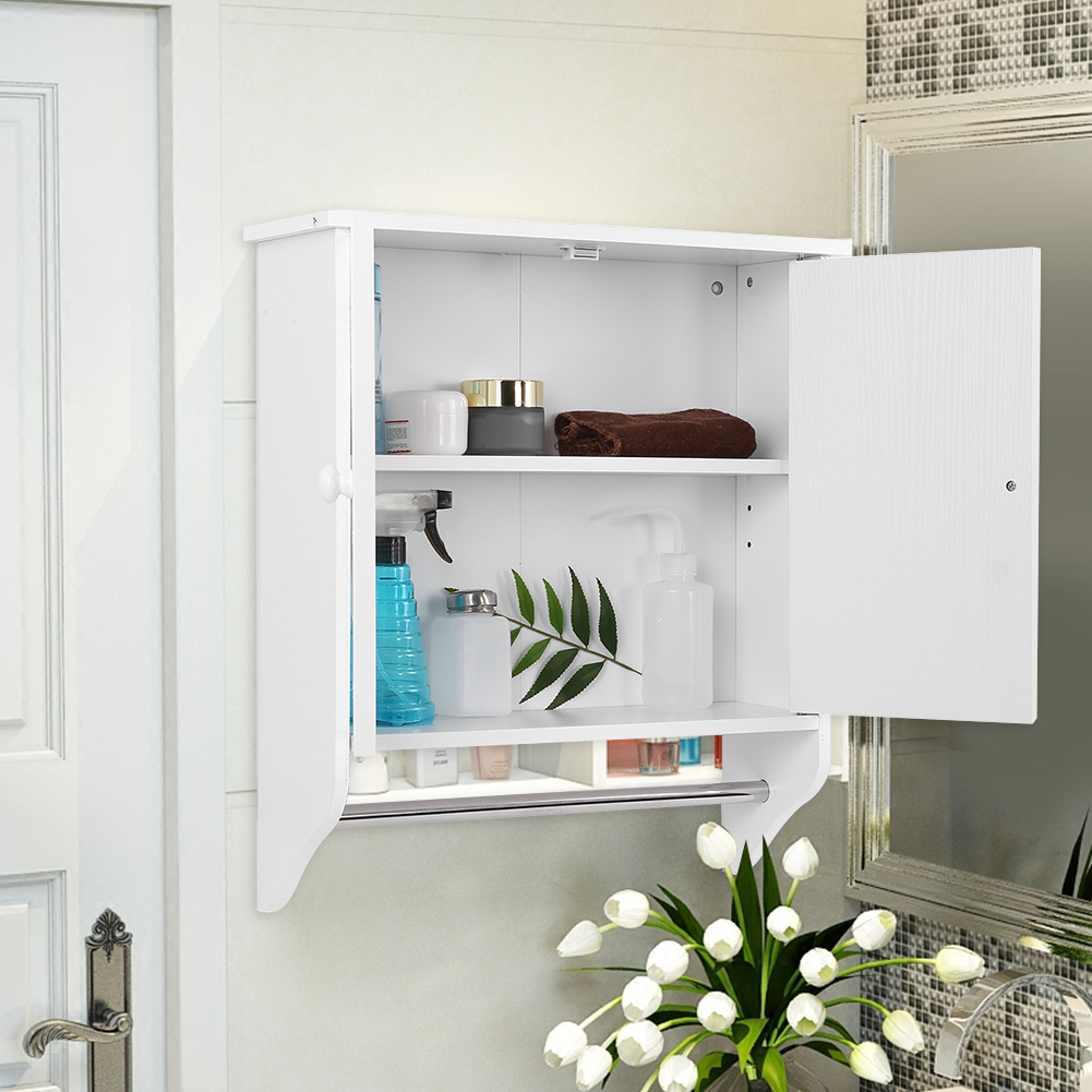 Ordinaire Wall Mount Wooden Organizer Towels Clothes Storage Cabinet Bathroom Kitchen  Laundry,Bathroom Cabinet, Towels Storage   Walmart.com