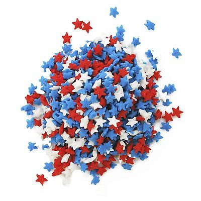 Mini Red, White, & Blue Stars Edible Confetti Sprinkles - 8 oz - National Cake Supply](Edible Pens)