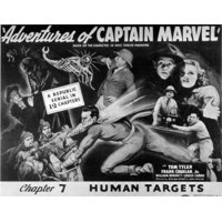 The Adventures Of Captain Marvel Stretched Canvas -  (28 x 22)