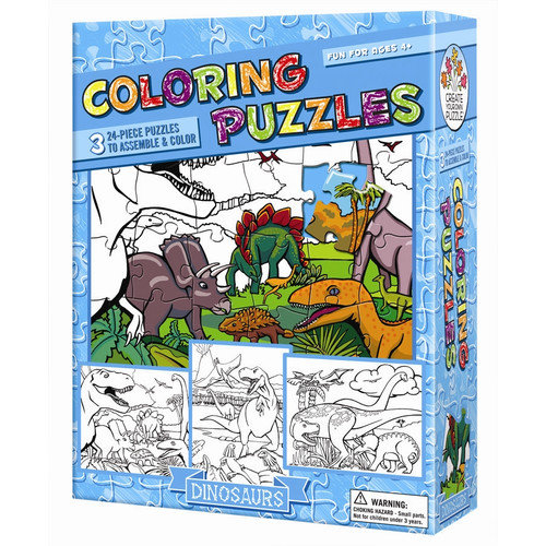 Outset Media Dinosaurs Coloring Puzzle