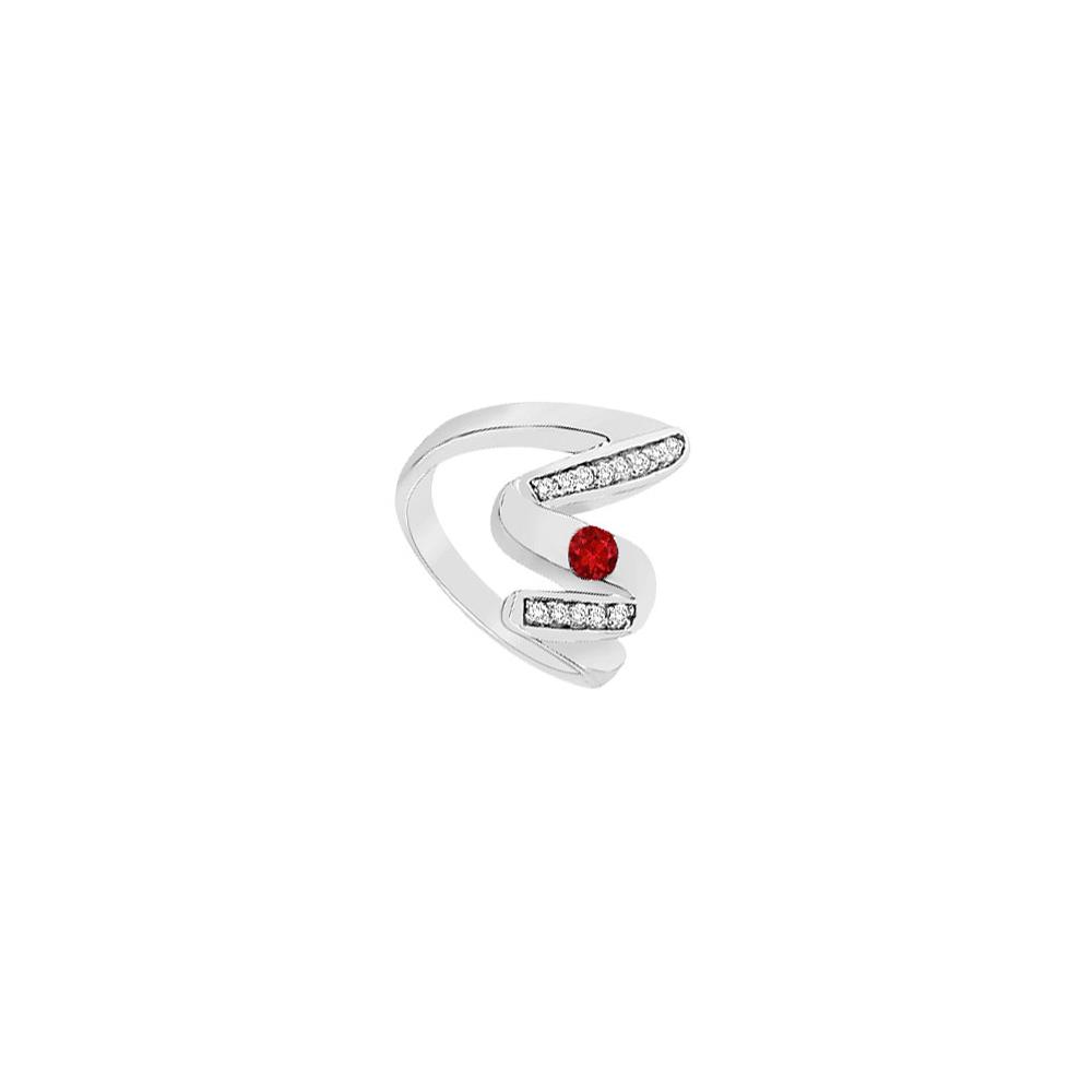 Jewelry Ruby Zig Zag Ring 14K White Gold 0.50 CT TGW - image 1 de 1