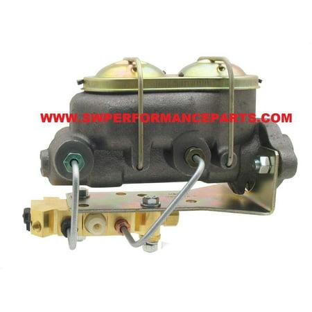 Bleeding Brakes Master Cylinder - 4 PORT CORVETTE STYLE GM MASTER CYLINDER DISC/DRUM PROPORTIONING VALVE + LINES
