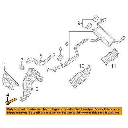 Cross Exhaust (CHRYSLER OEM Exhaust-Cross Over Pipe Bolt 6105055AA)
