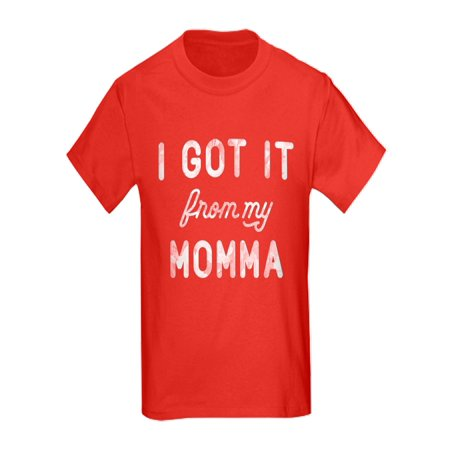 CafePress - I Got It From My Momma - Kids Dark T-Shirt