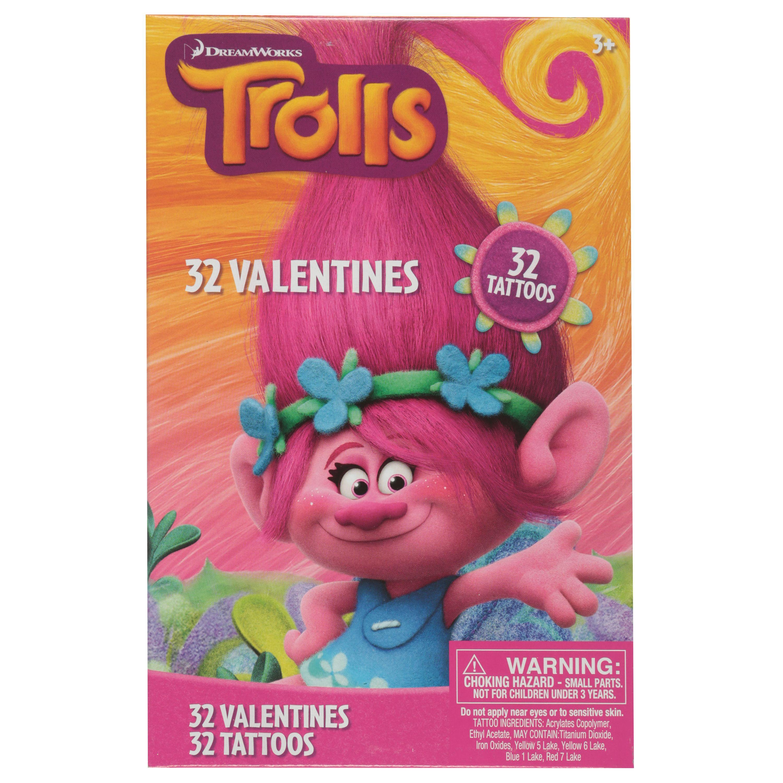 Paper Magic 32ct Trolls Valentines