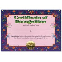 Certificate Of Recognition (Pack of 6)
