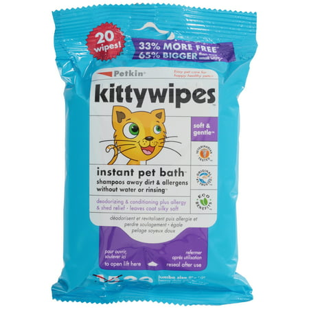 Petkin® Kittywipes™ Jumbo Size Wipes 20 ct Pack (Gold Scratch Test)