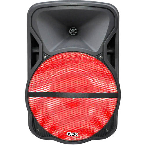 "QFX 15"" Battery-Powered Portable Bluetooth Speaker with Stand"