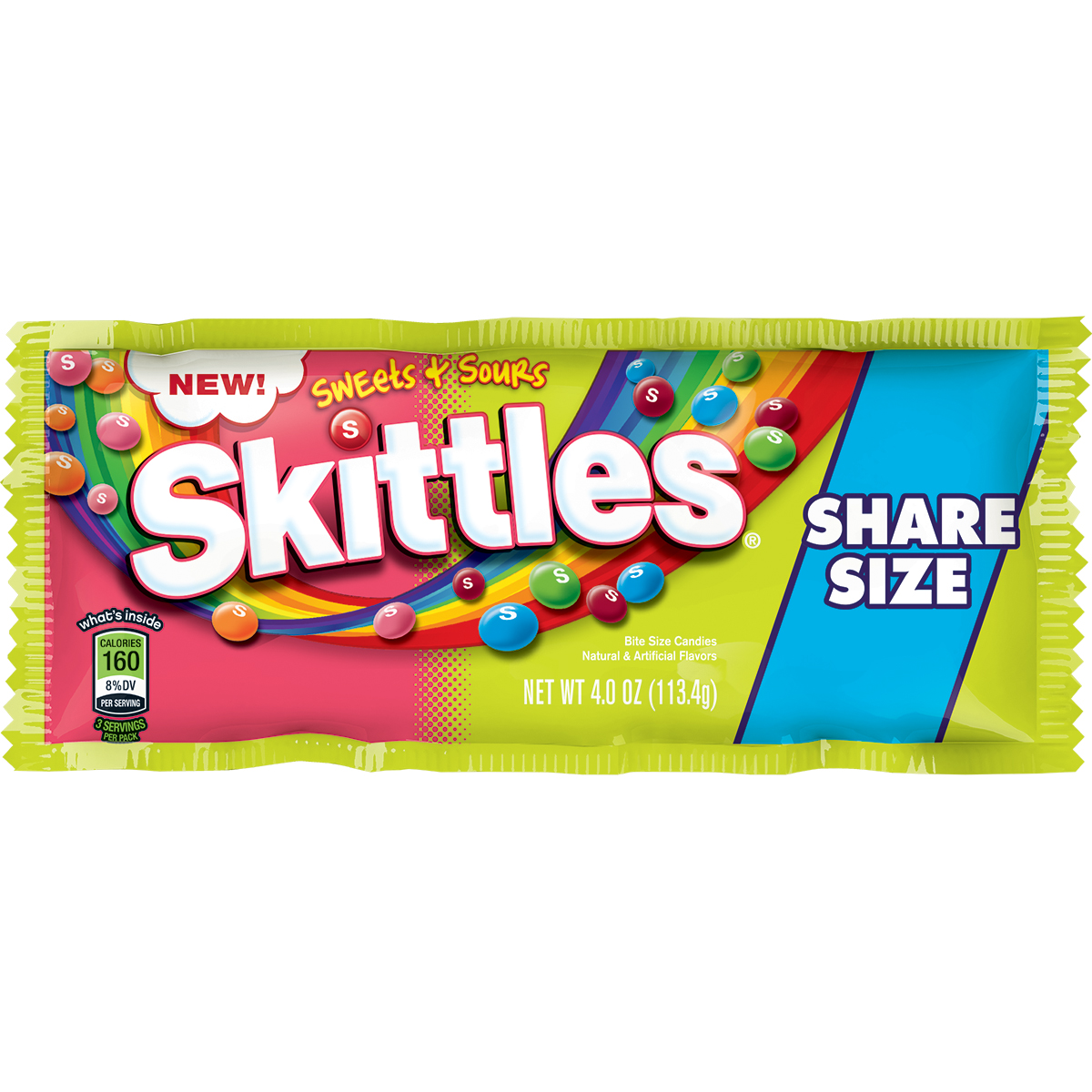 Skittles, Sweets and Sours, 4oz