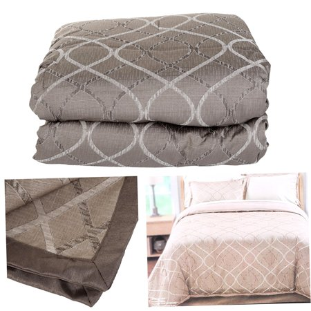 Luxury Winter Soft 4 Piece Quilt Comforter Queen Pillow Sham
