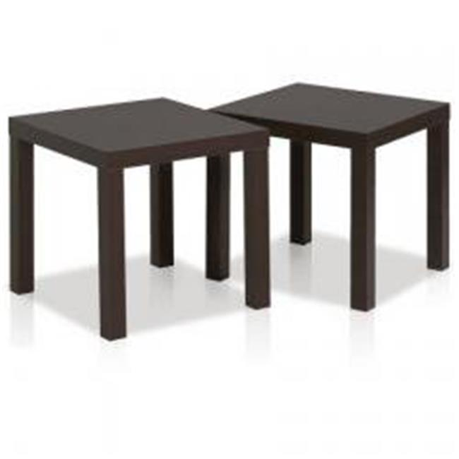 Classic Cubic End Table, Set of 2 - Espresso