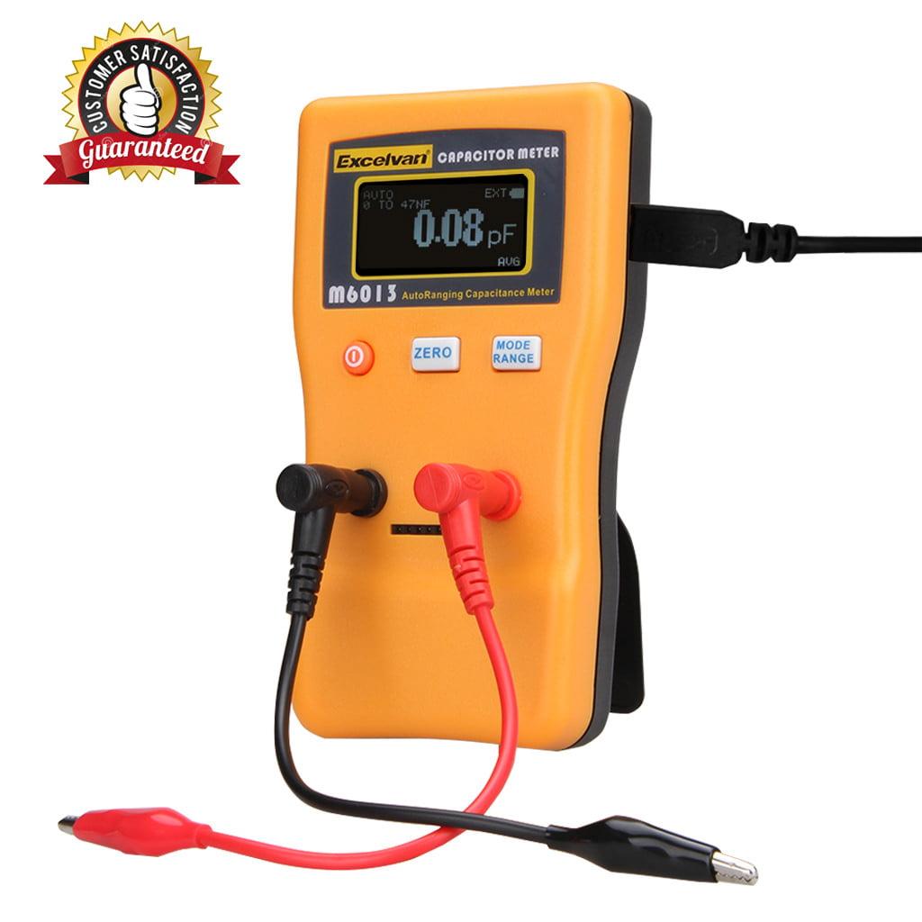 Excelvan M6013 Digital Auto Ranging Capacitance Meter Capacitor Tester Professional 0.01pF... by Excelvan
