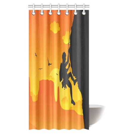 mypop camper shower curtain a man doing rock climbing fabric bathroom shower curtain set with. Black Bedroom Furniture Sets. Home Design Ideas