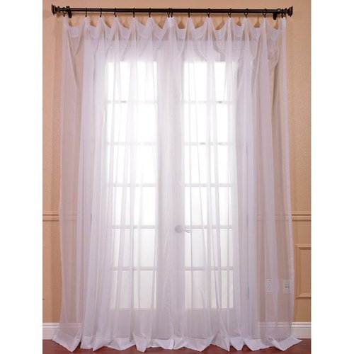 Exclusive Fabrics & Furnishing Solid Sheer Curtain