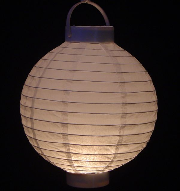 Pack of 3 Lighted Battery Operated White Garden Patio Chinese Paper Lanterns 8""