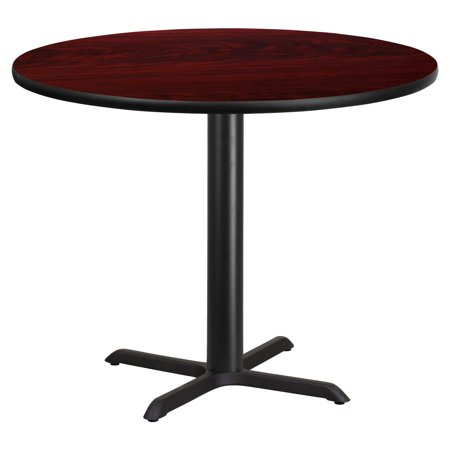 "Flash Furniture 42"" Round Laminate Table Top with 33"" x 33"" Table Height Base, Multiple Colors"