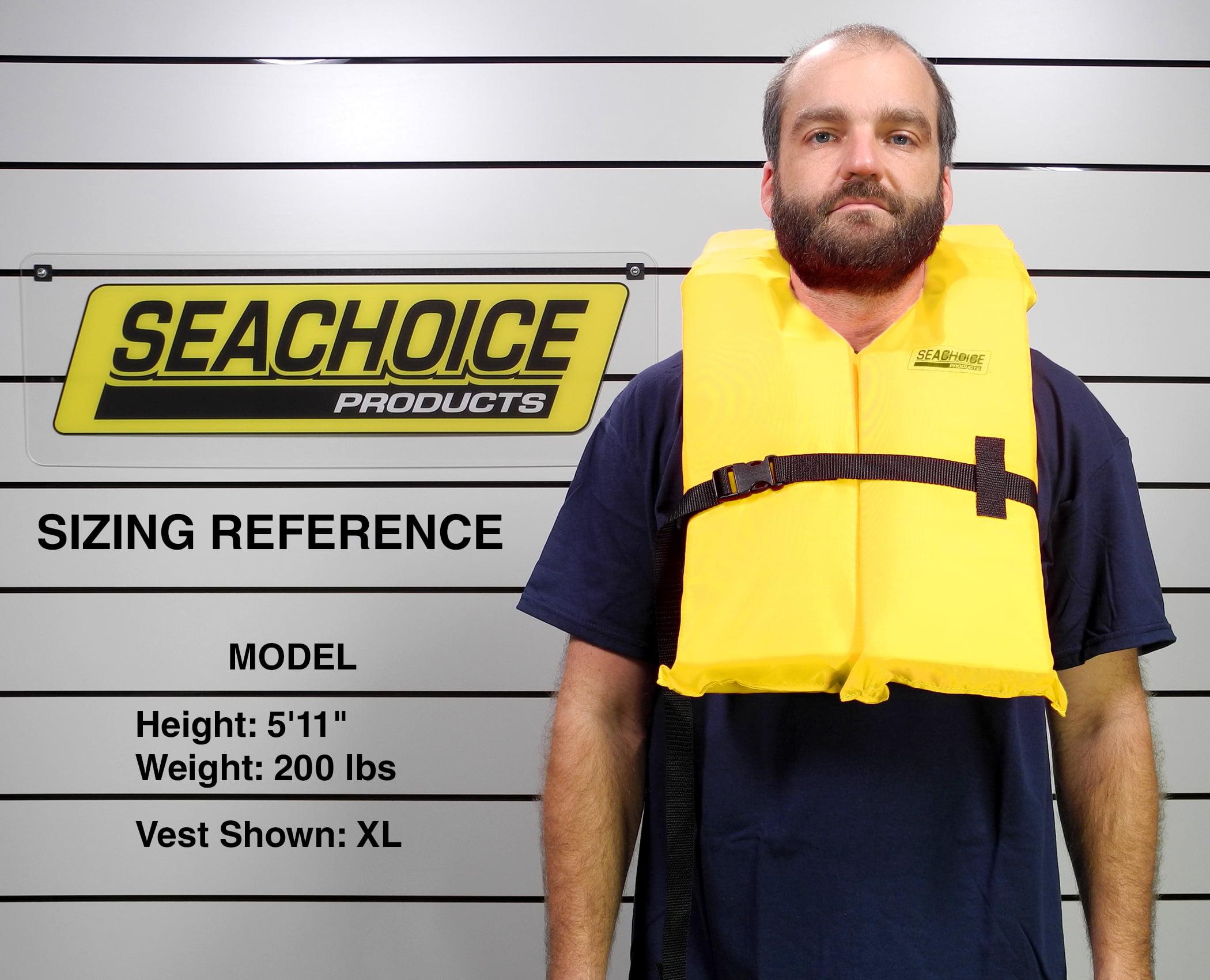 Seachoice 86080 Adult XL Life Vest Yellow for sale online