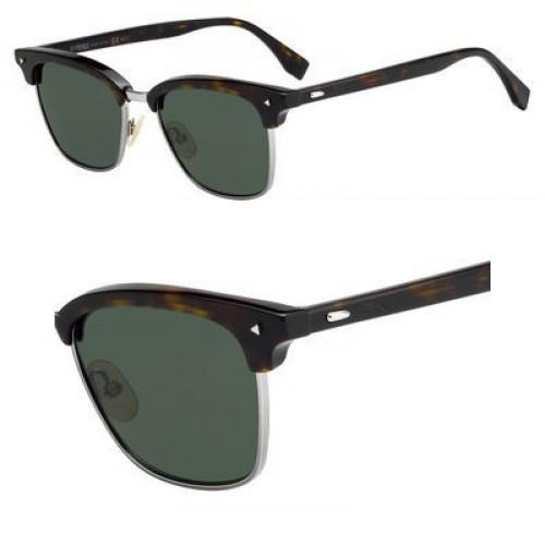 Sunglasses Fendi Ff M 3 /S 0086 Dark Havana / QT green lens