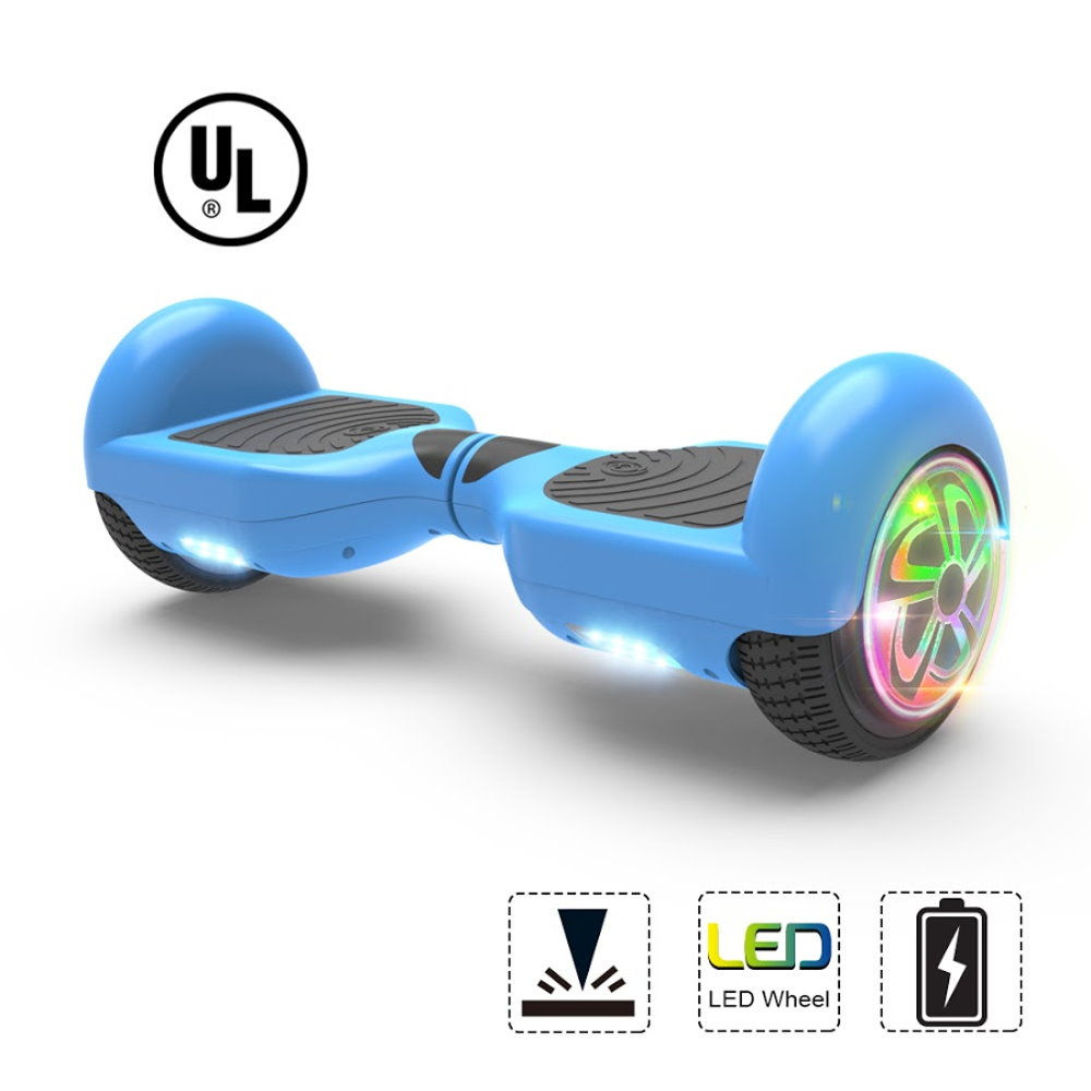 "Hoverboard  Flash Wheel Two-Wheel Self Balancing Electric Scooter 6.5"" UL 2272 Certified Blue"