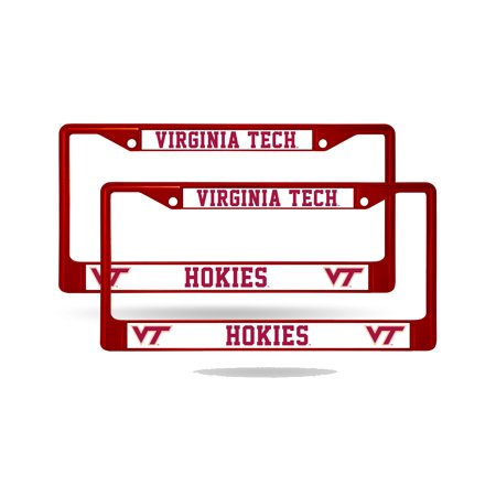 Virginia Tech Hokies Metal - Virginia Tech Hokies NCAA Maroon Chrome Metal (2) License Frame Set