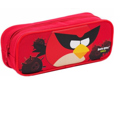 Angry Birds Character Single Zipper Red Pencil - Plastic Pencil Case