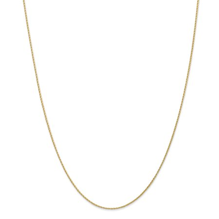 14k Yellow Gold 1mm Parisian Link Wheat Chain Necklace 16 Inch Pendant Charm Spiga Gifts For Women For Her