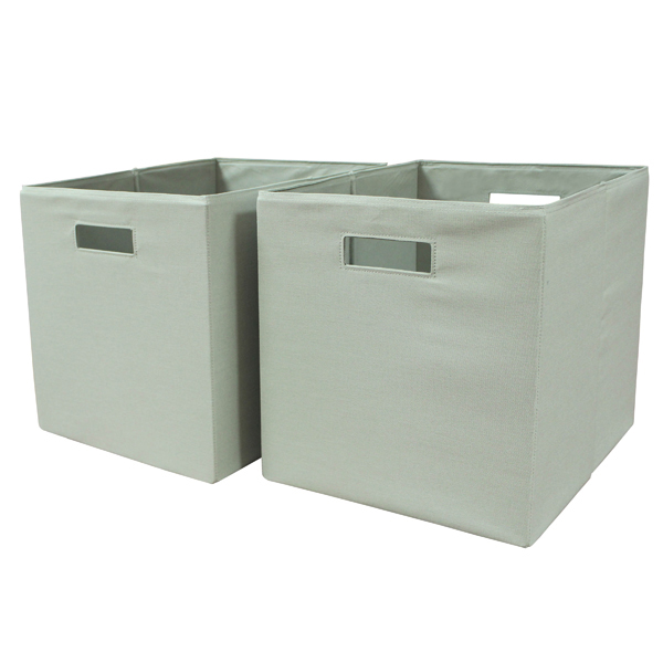 Better homes and gardens x open slot storage bins set of 2 multiple colors for Better homes and gardens storage bins