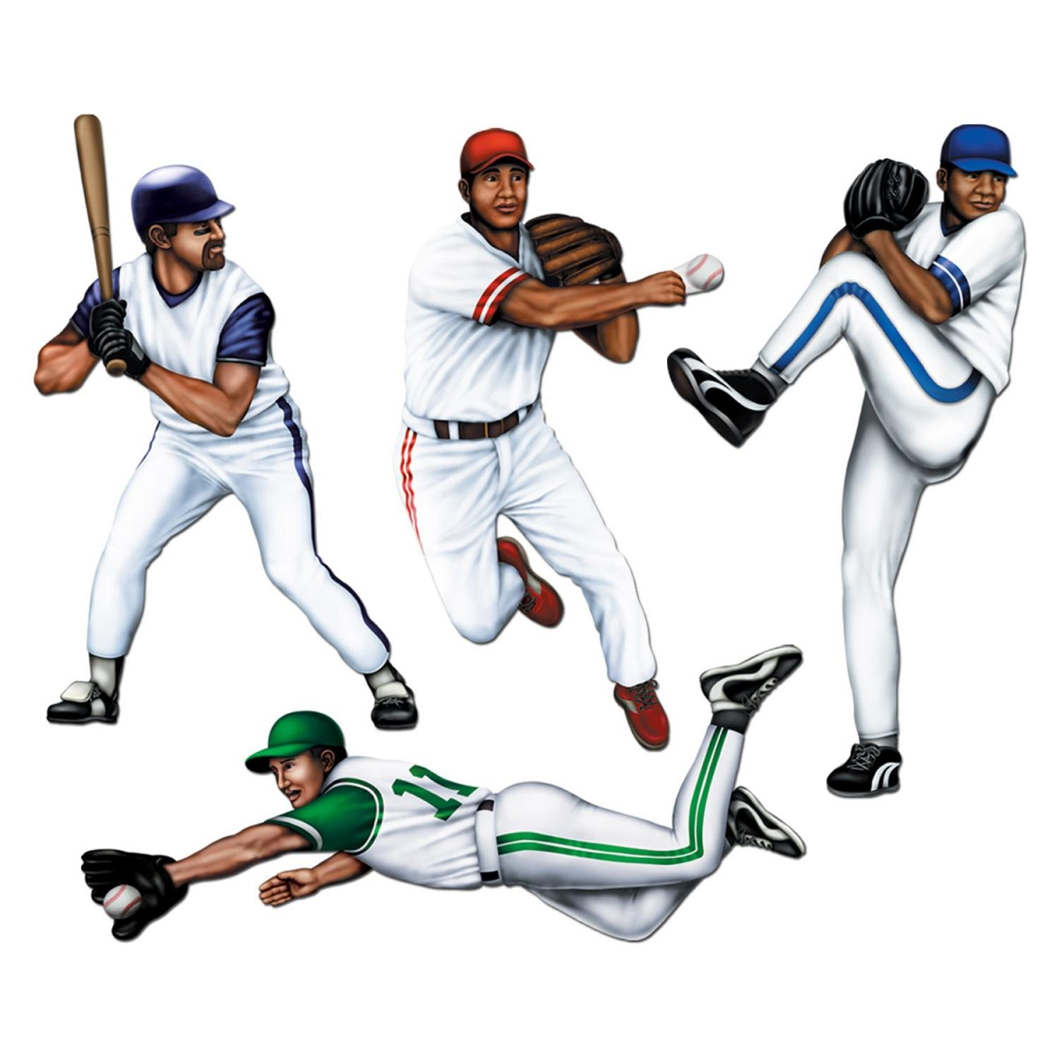 """Club Pack of 48 Active Baseball Player Party Decoration 23"""""""